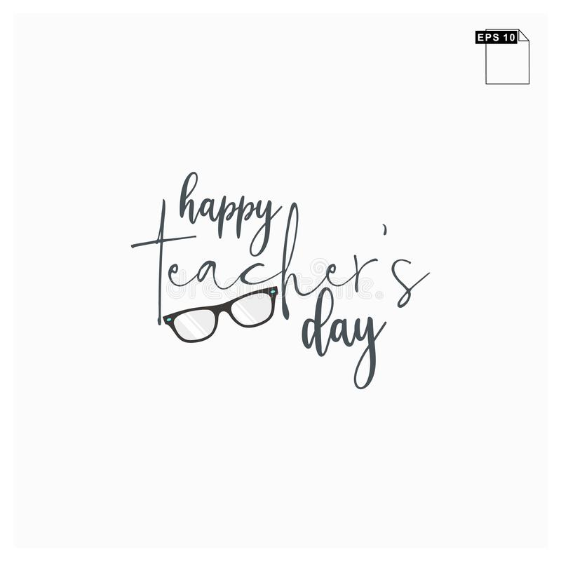 Moment happy teachers day lettering art font royalty free stock photos