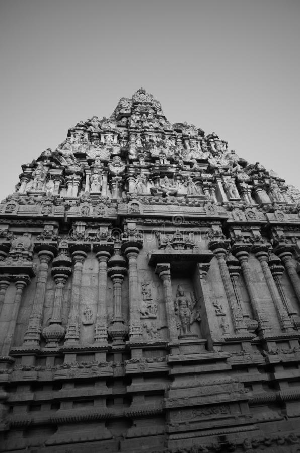 Art found on the architecture in ancient Hinduism temple in Thanjavur,  India. Art found on the architecture in ancient Hinduism temple, Thanjavur,  India royalty free stock photo