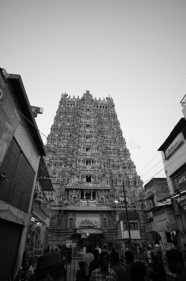 Art found on the architecture in ancient Hinduism temple in Tiruchirappalli,  India. Art found on the architecture in ancient Hinduism temple, Tiruchirappalli stock image