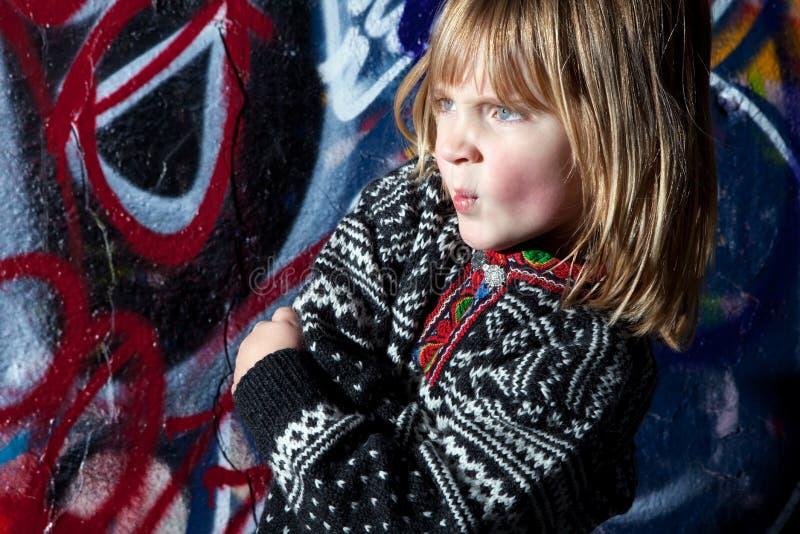 Art frais de rue d'enfant de graffiti photo stock