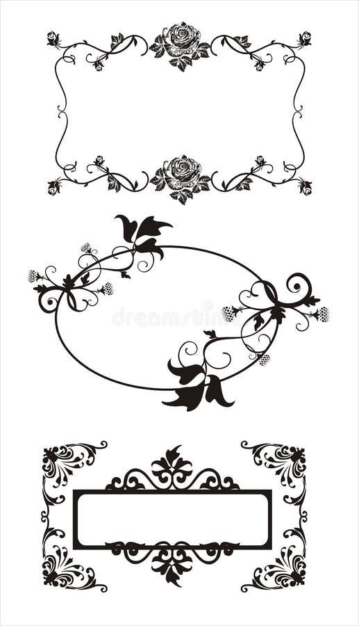 Download Art frames stock vector. Illustration of rose, card, pattern - 6667054