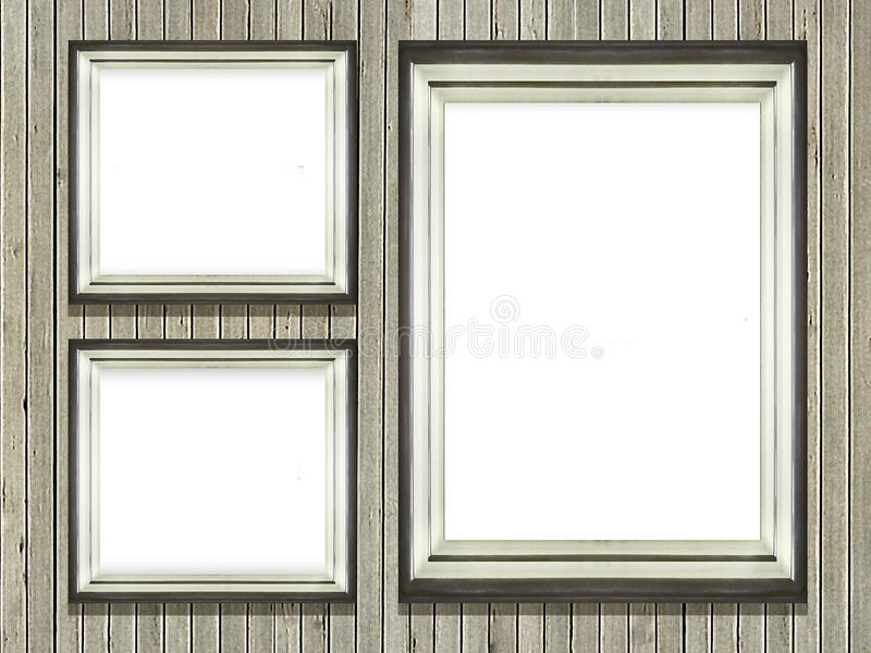 Art Frames Wall Photo Placeholder illustrazione di stock