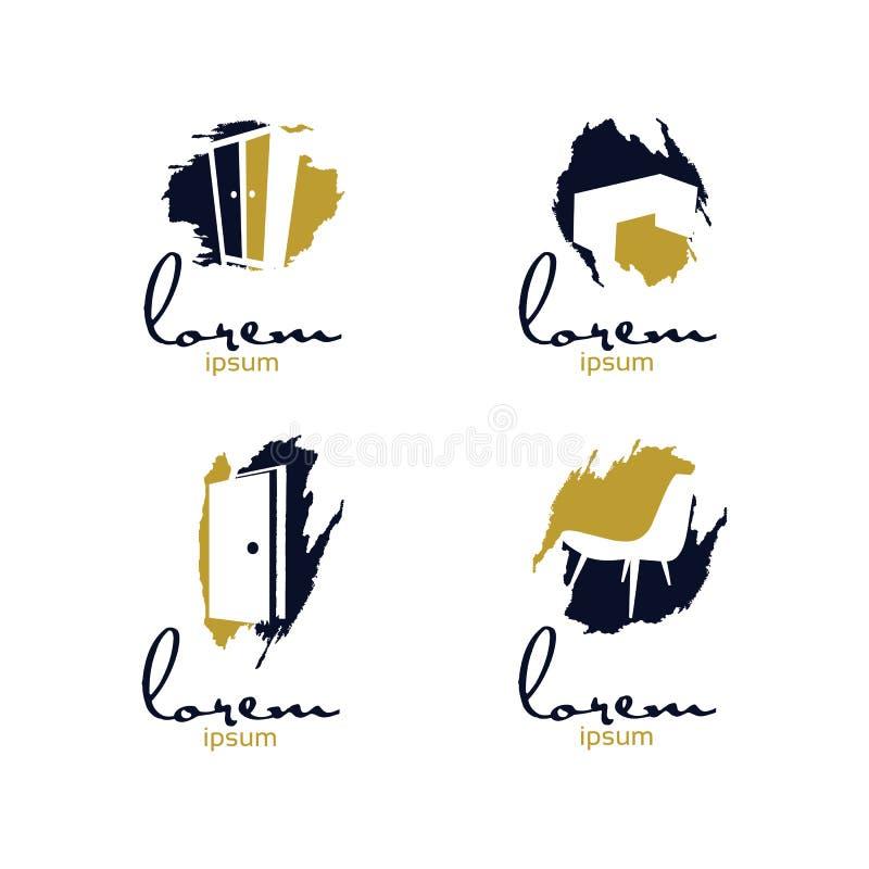 Art Furniture Logo ilustração stock