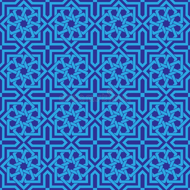 Art géométrique d'ornement islamique sans couture illustration stock