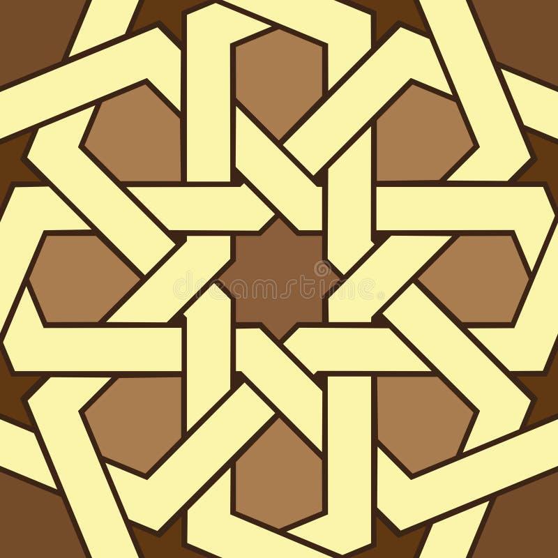 Art géométrique d'ornement islamique sans couture illustration de vecteur