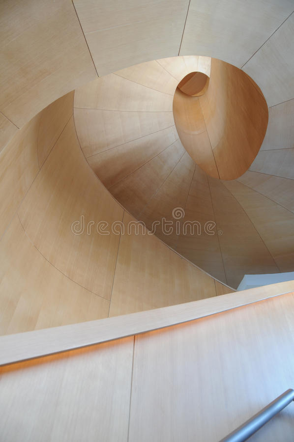 Art Galler of Ontario Gehry Staircase 6. Frank Gehry, architect extraordinaire, designed this spiral staircase that is located at the Art Gallery of Ontario (AGO stock image