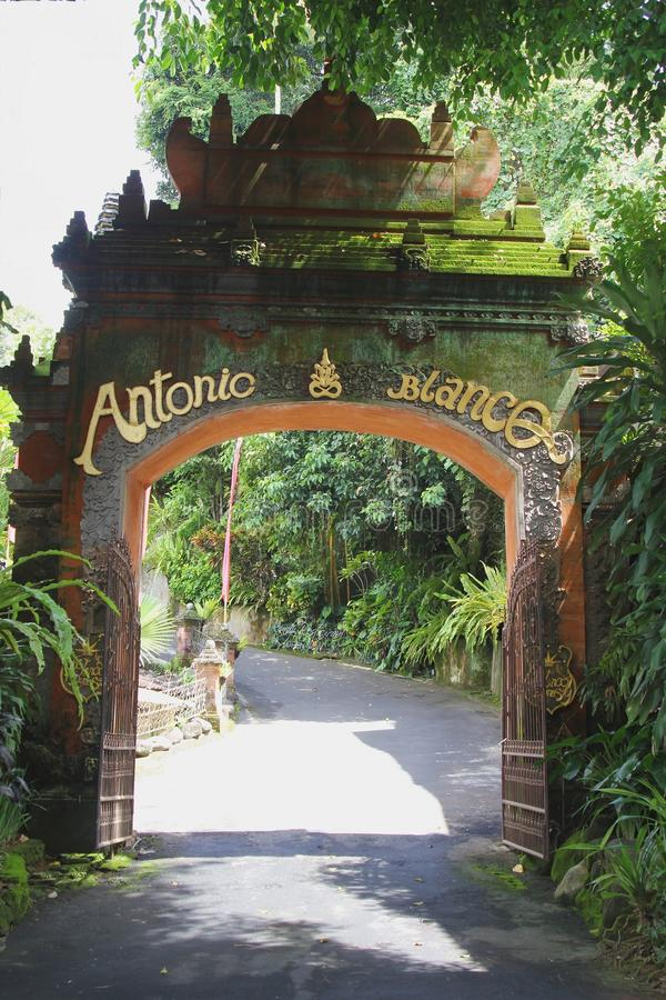Art Gallery of famous artist Antionio Blanco,Bali, Indonesia stock photography