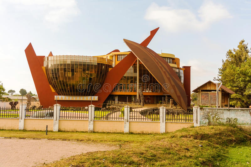 The Art Gallery in Arusha, Tanzania. Modern building in Arusha Tanzania. It is the Art Gallery which is part of the Cultural Heritage Center. It is free to the stock photography