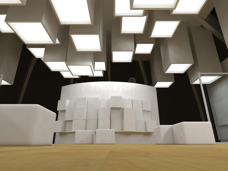 Art gallery with blank frames