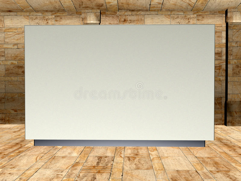 Art Gallery Display Wall Illustration in bianco illustrazione vettoriale