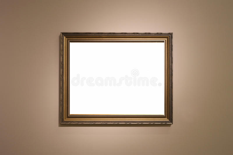Art gallery. An empty pictures royalty free stock photos