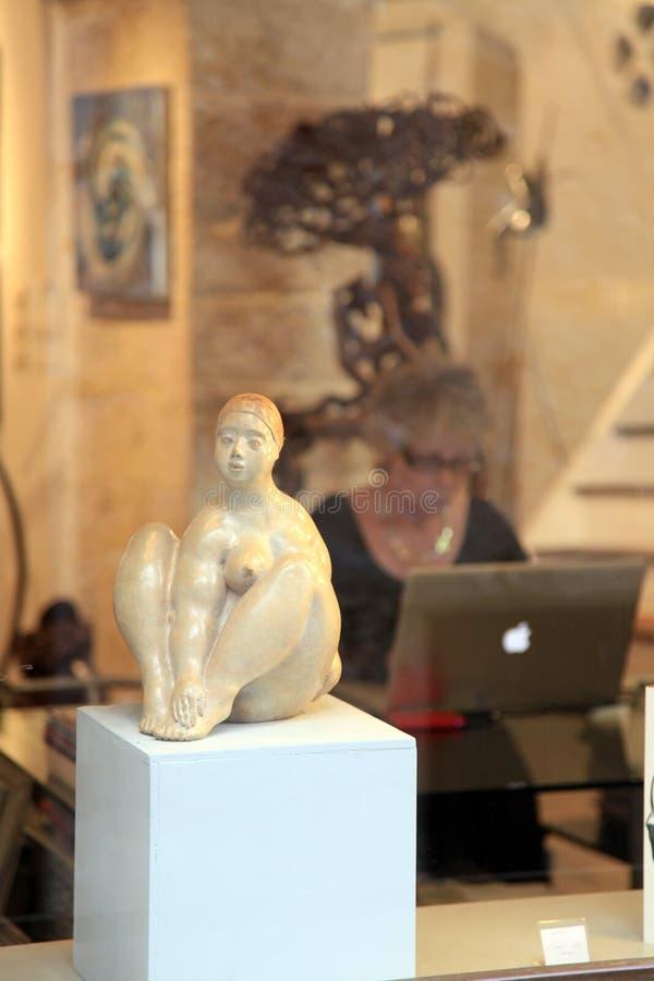 Art Gallery im Heiligen Paul de Vence, berühmte Stadt von Malern und lizenzfreies stockbild