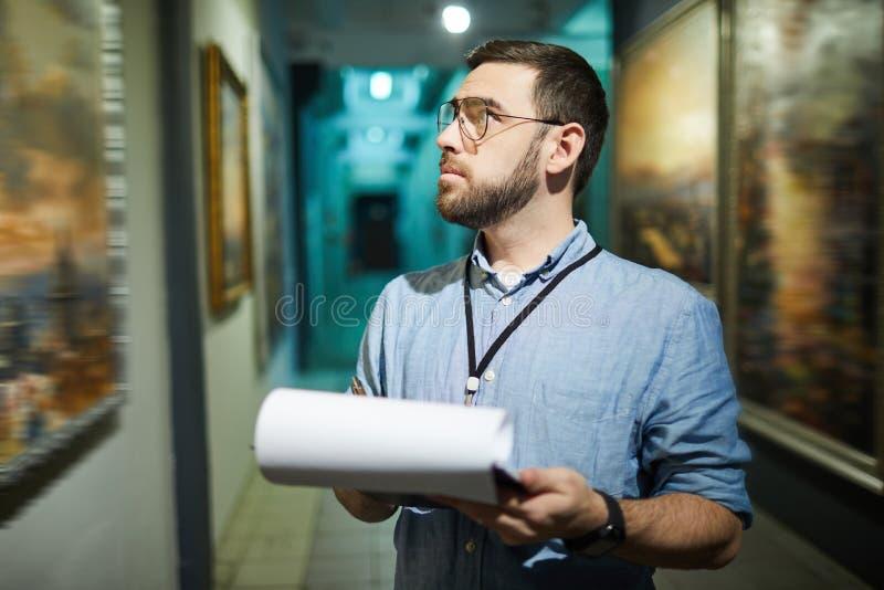 Art Gallery Manager imagen de archivo libre de regalías