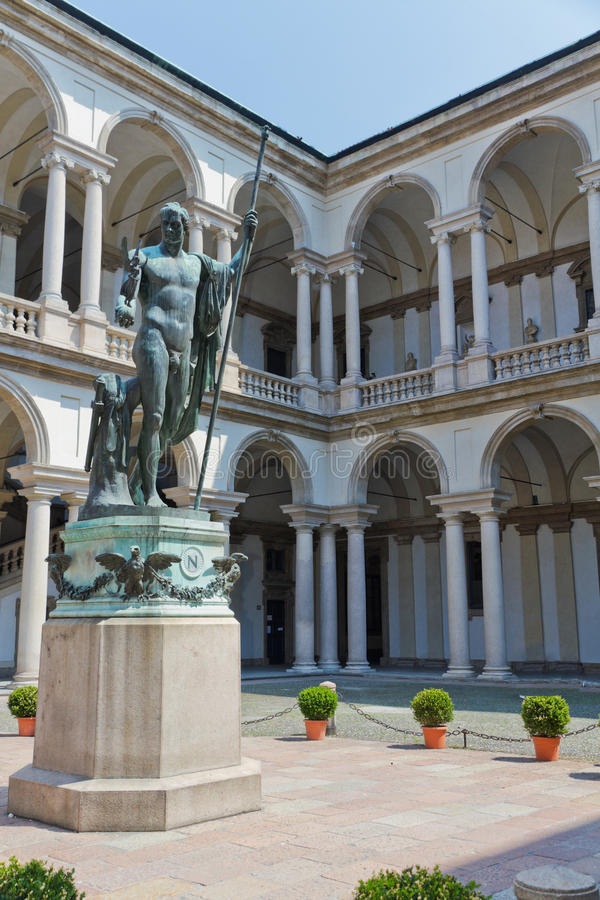 Download Art gallery Milan, Itlay stock image. Image of courtyard - 22915769