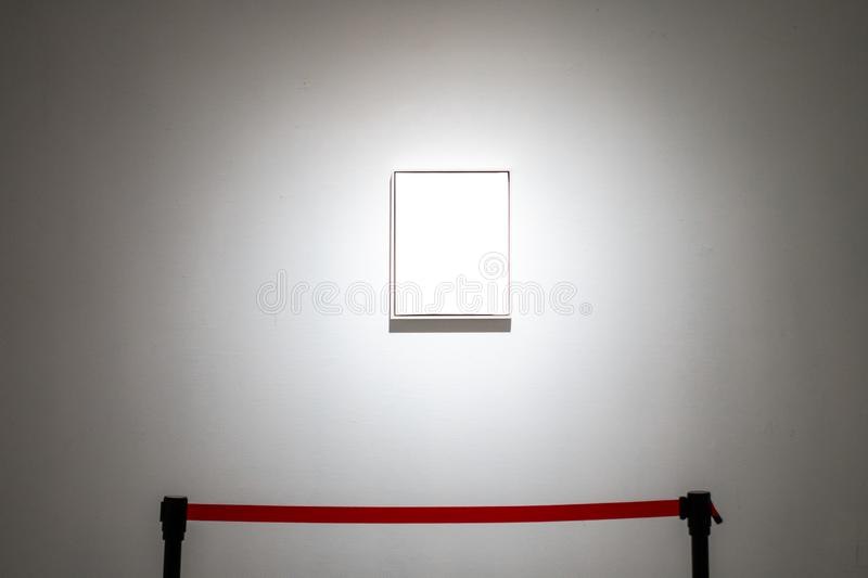 Art Gallery Museum Blank Frame Exhibition White Clipping Path Is. Art Gallery Museum Blank Frame Exhibition White Clipping Path royalty free stock image