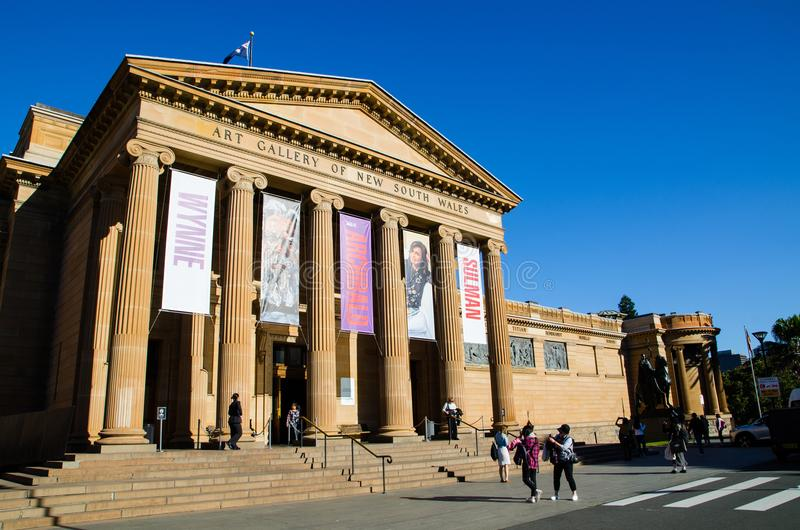 The art gallery of new south Wales located in The Domain in Sydney, New South Wales, Australia. royalty free stock images