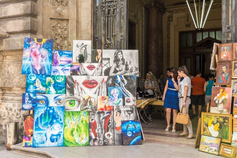 Art Gallery Paintings Exhibition stockfoto