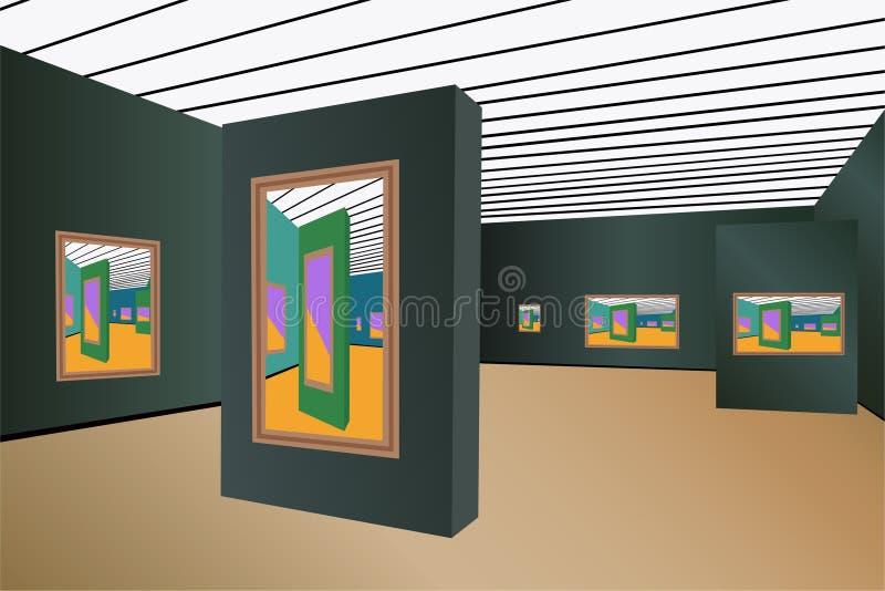 Art gallery vector vector illustration