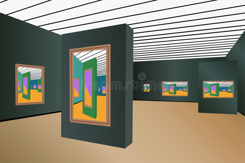 art gallery vector διανυσματική απεικόνιση