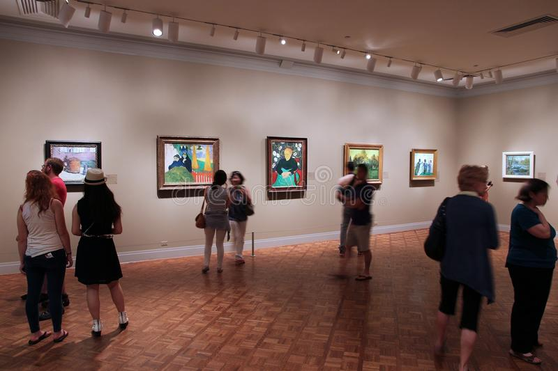 Art gallery visitors royalty free stock images
