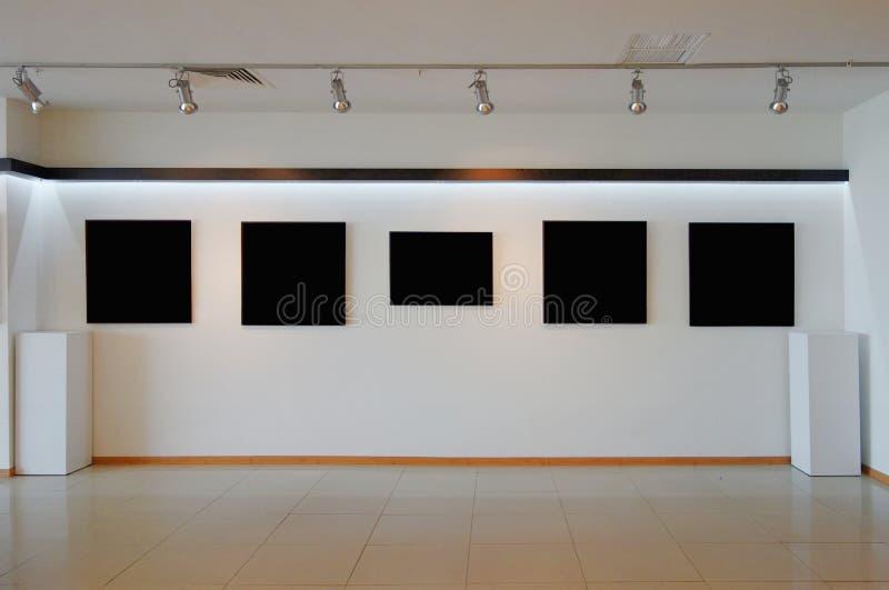 Art Gallery Wall. Art Gallery White Wall Interior stock photos