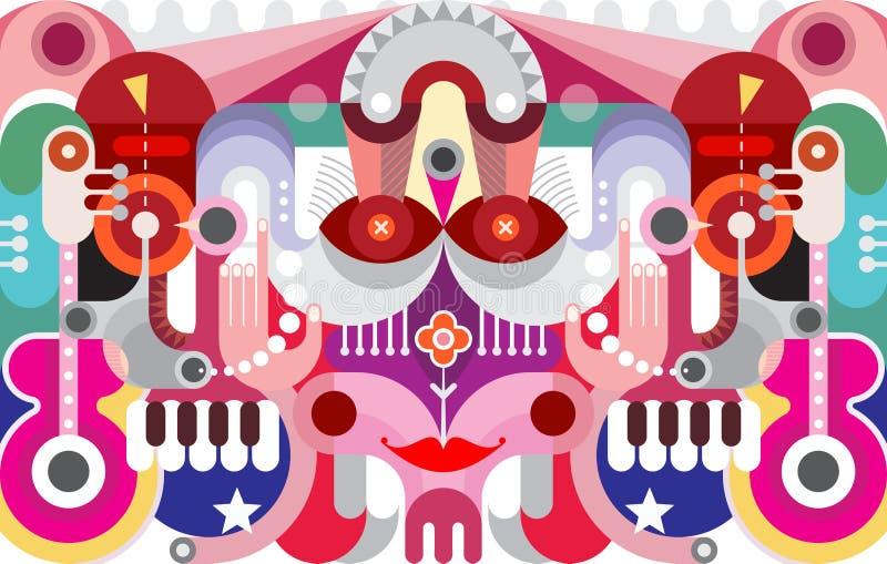 Art Graphic Design abstracto stock de ilustración