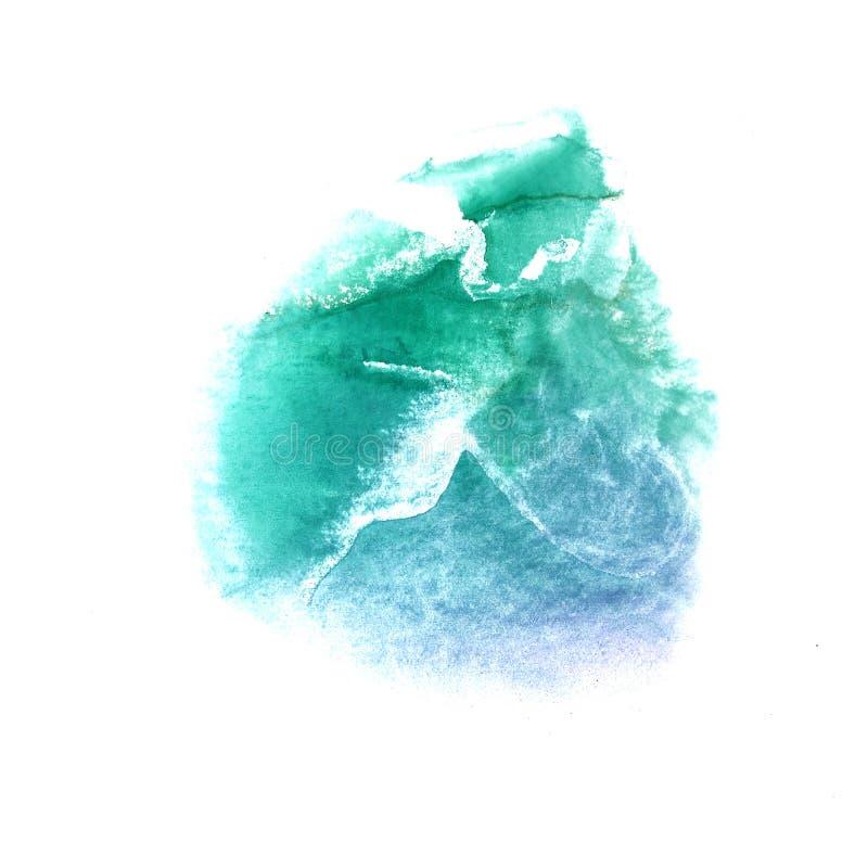 art green dark blue watercolor ink paint blob stock illustration illustration of isolated. Black Bedroom Furniture Sets. Home Design Ideas