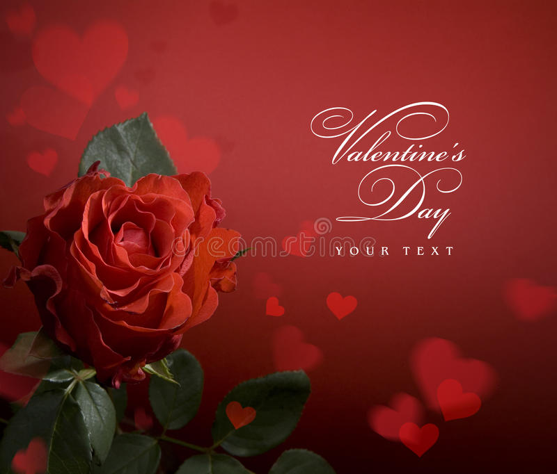 Download Art Greeting Card With Red Roses And Heart Stock Image - Image: 18508997