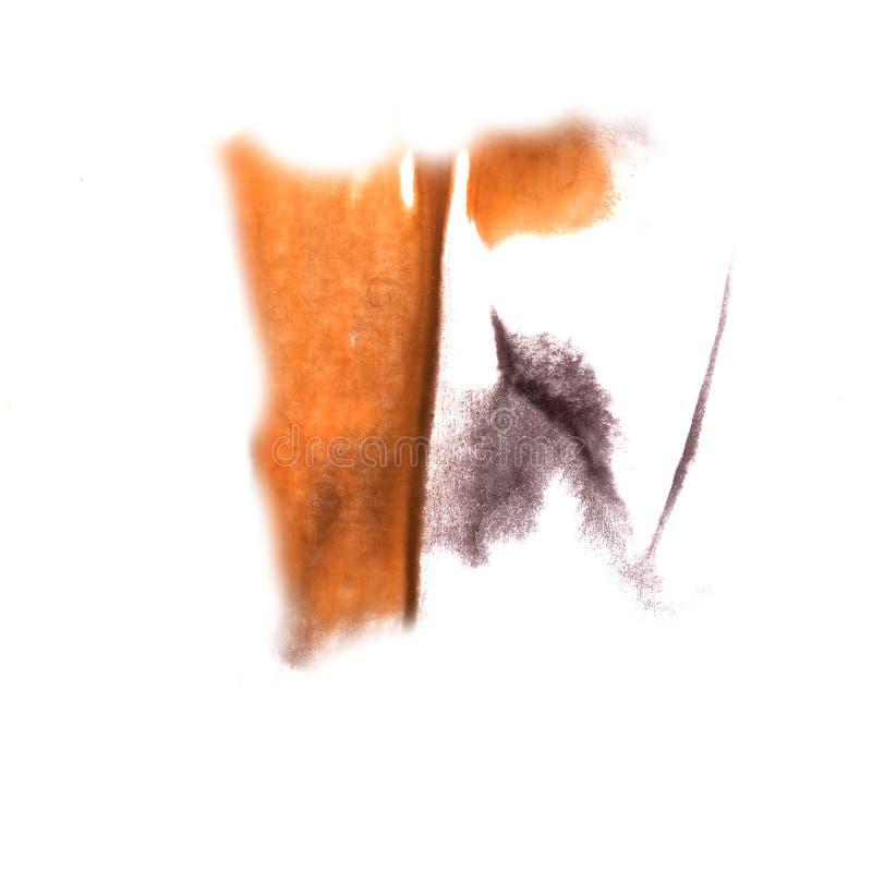 Art Grey, orange watercolor ink paint blob watercolour splash co royalty free stock photo