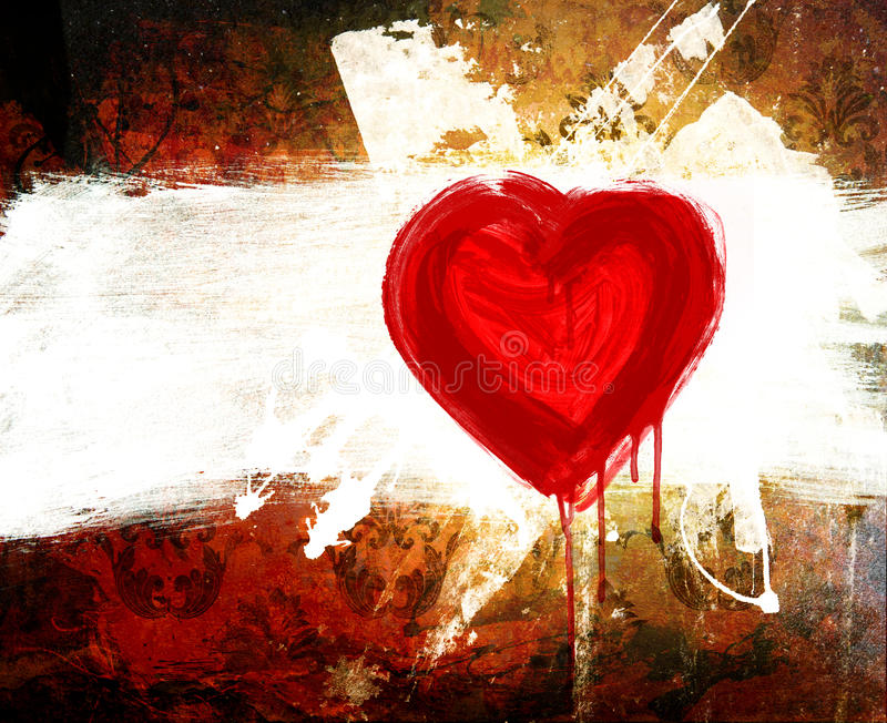 Download Art Grunge Declaration Of Love Stock Image - Image: 18329297