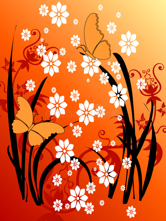 Art grunge floral 29 de guindineau illustration stock