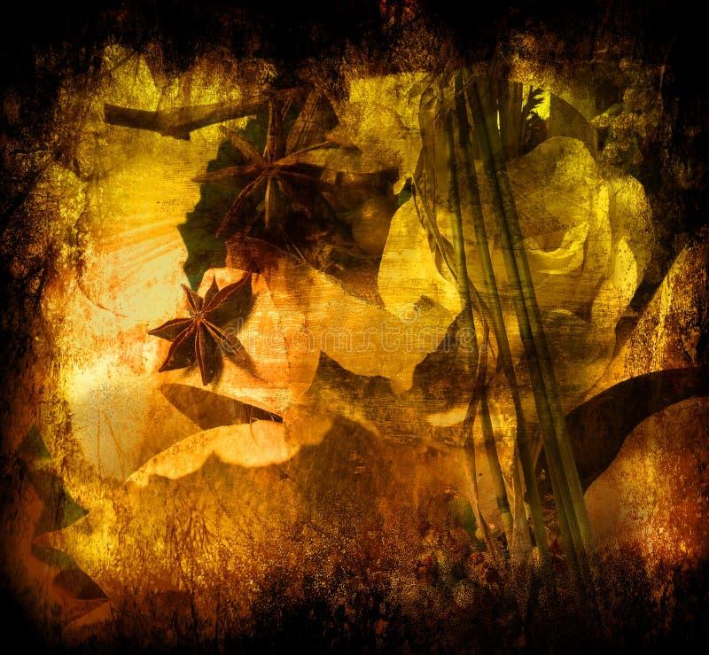 Art grunge floral background royalty free illustration