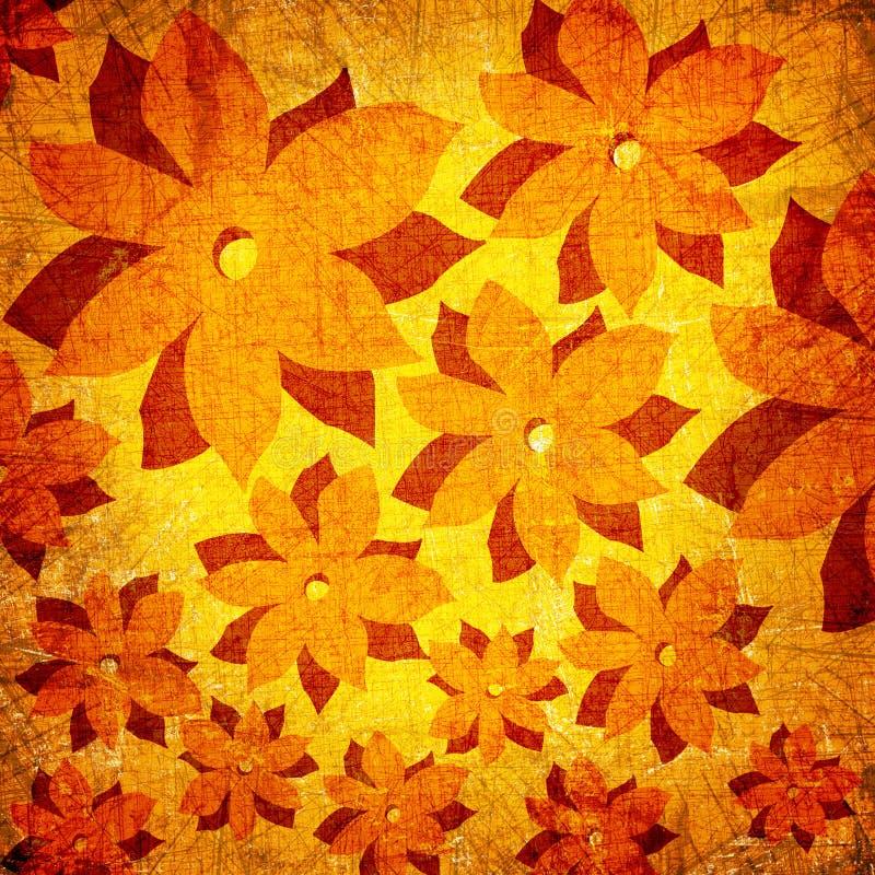 Art grunge floral background stock illustration