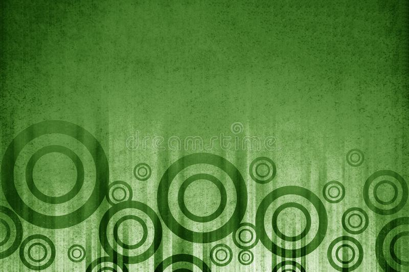 Art grunge green circle abstract pattern background royalty free illustration