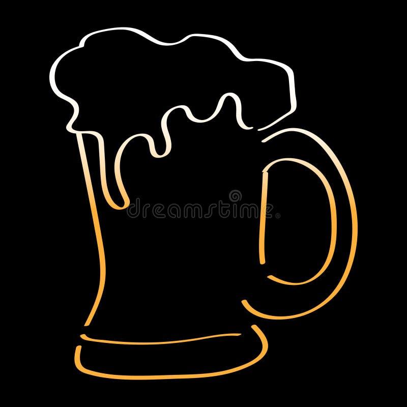 Art Handmade Drawing Beer Mug illustration stock