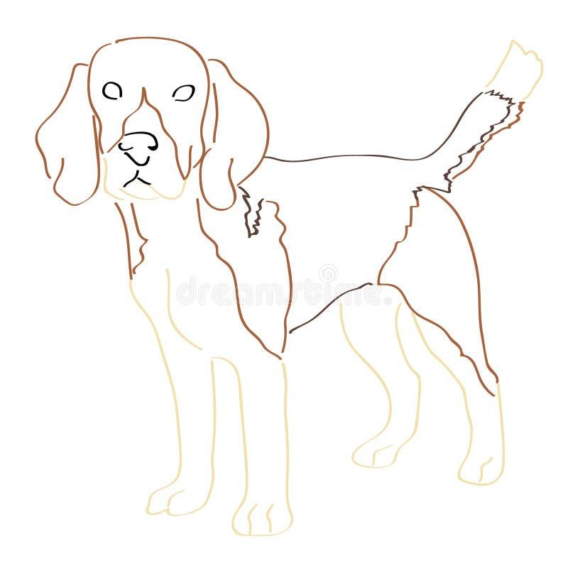 Art Handmade Drawing Dog illustration de vecteur