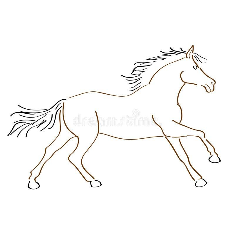 Art Handmade Drawing Horse illustration stock