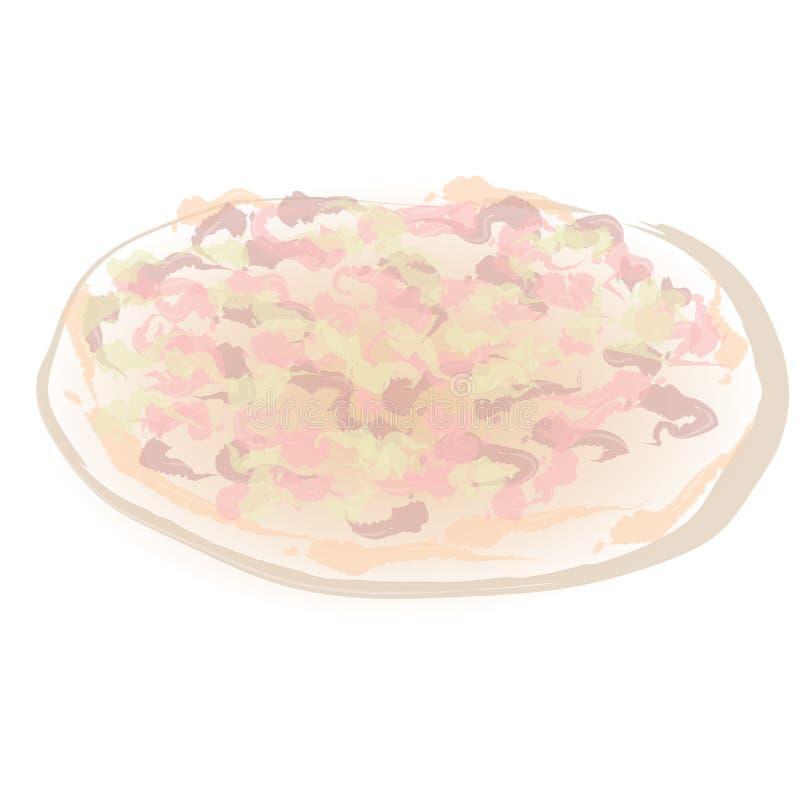 Art Handmade Drawing Pizza illustration libre de droits
