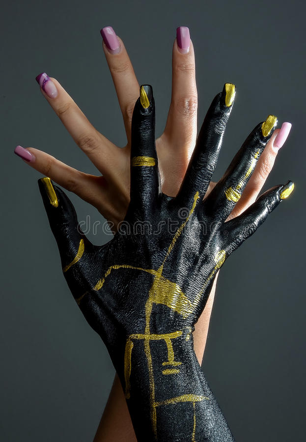 ART HANDS. Conceptual image for hand care royalty free stock photo
