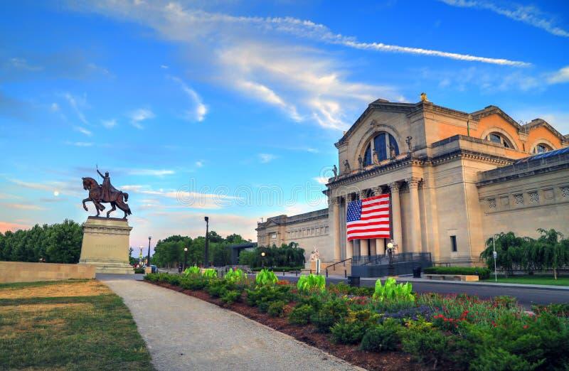 Art Hill en Forest Park, St. Louis, Missouri fotografía de archivo