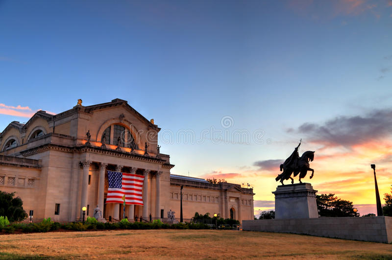 Art Hill in St. Louis, Missouri royalty free stock photo