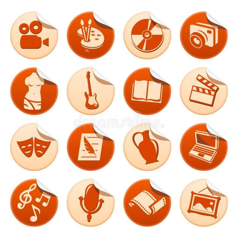 Art & Hobby Stickers Stock Photo
