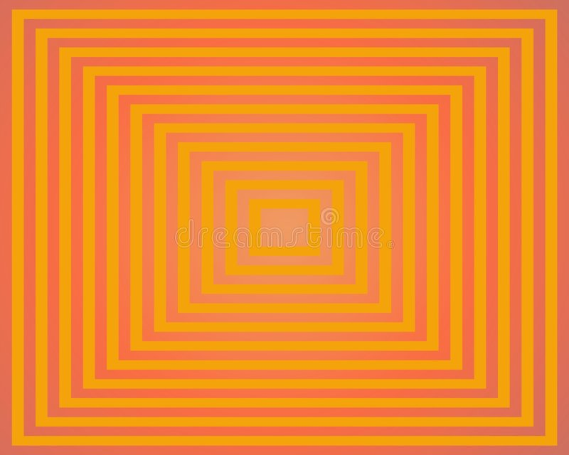 art homage hues op orange square to διανυσματική απεικόνιση