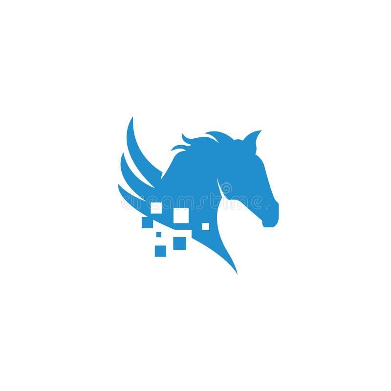 Horse logo royalty free stock images