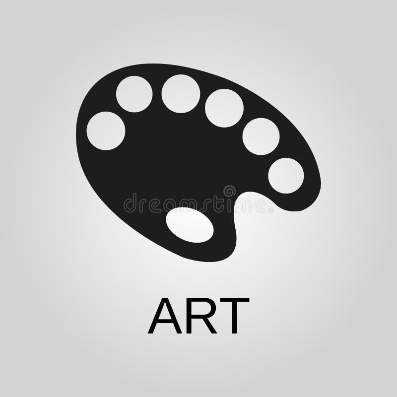 Art Icon Símbolo del arte Diseño plano Acción - ejemplo del vector libre illustration