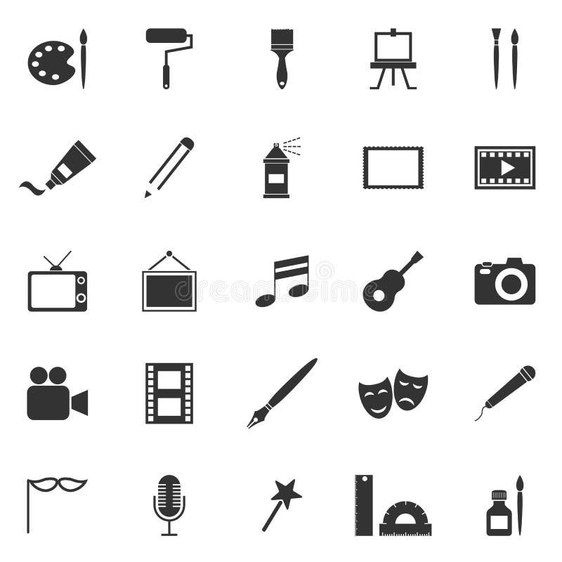 Art icons on white background royalty free illustration