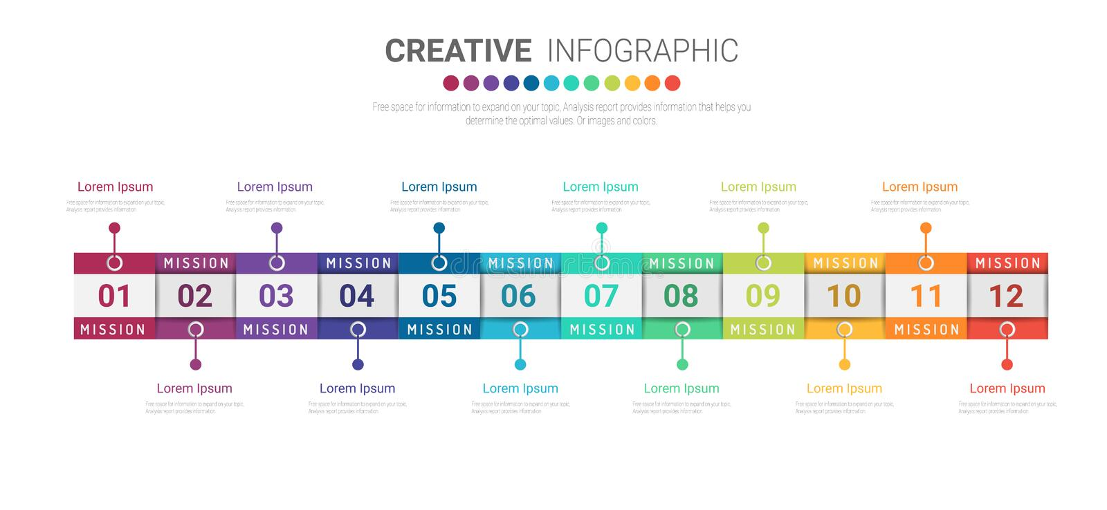 Timeline business all month infographics design vector stock image