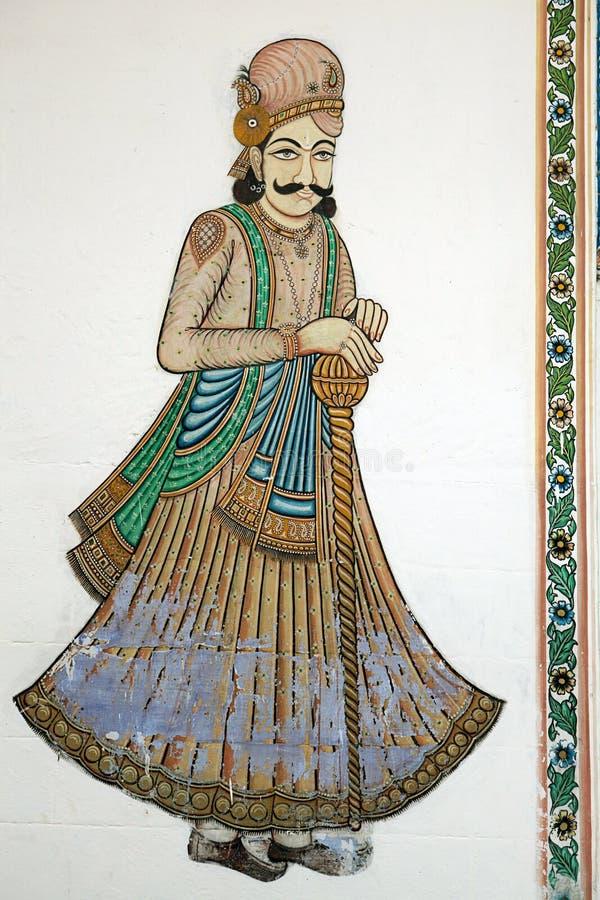 Art indien de mur illustration de vecteur