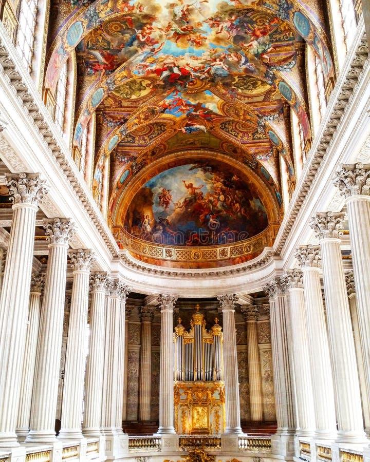 Art inside the palace of versailles stock photo image of for Architecte des batiments de france versailles