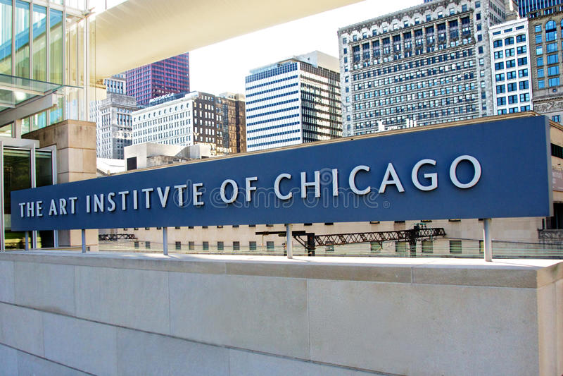Art Institute of Chicago stock photo